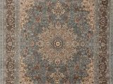 Light Blue and Brown area Rugs Feraghan New City Traditional isfahan Wool Persian area Rug 2 X 3 Light Blue Silver