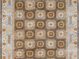 Light Blue and Brown area Rugs Kashee Taro Oak Brown Light Blue area Rug Clearance