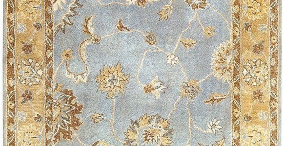 Light Blue and Gold area Rug Dynamic Rugs Charisma 1416 501 Light Blue area Rug