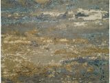 Light Blue and Gold area Rug Hri Rosewood Ro 1427 Light Blue Gold area Rug