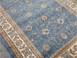Light Blue and Gold area Rug Light Blue Persian Style oriental area Rug 8×10 8 X 10