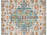 Light Blue and orange area Rugs Gutierez oriental Gray Light Blue orange area Rug
