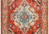 Light Blue and orange area Rugs Monaco Moses orange Light Blue 5 Ft 1 In X 7 Ft 7 In