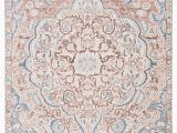 Light Blue and Pink area Rug Annette Indoor Outdoor Medallion Blue Light Pink area Rug