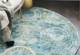 Light Blue Circle Rug 5 5 X 5 5 Havana Round Rug