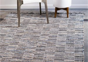 Light Blue Jute Rug Blue 5 X 8 Chindi Jute Rug