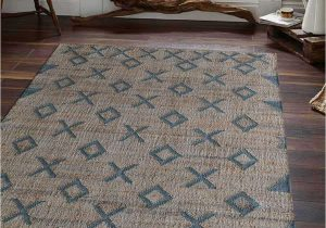 Light Blue Jute Rug Color Beige