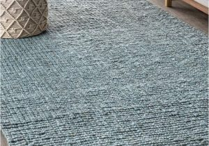 Light Blue Jute Rug Nrf103b with Images