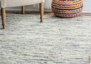 Light Blue Jute Rug Nuloom Handmade Braided Denim Rag Cotton and Jute Blend area Rug In Light Blue