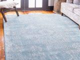 Light Blue Modern Rug Mistana™ Delgado oriental Light Blue area Rug & Reviews