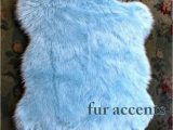 Light Blue Nursery Rug 50 X 60 Faux Fur Rug Baby Sky Light Blue Sheepskin area