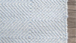 Light Blue Nursery Rug Hand Woven Ago Rug Color Light Blue Size 76 X 96
