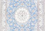 Light Blue Persian Rug Floral Medallion Light Blue 5×8 Nain Persian area Rug