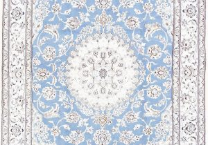 Light Blue Persian Rug Floral Medallion Light Blue 5×8 Nain Persian area Rug