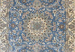"""Light Blue Persian Rug Naeen 5 2"""" X 3 5"""""""