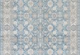 Light Blue Persian Rug Silver ash Gray Ivory Light Blue Faded oriental Distressed