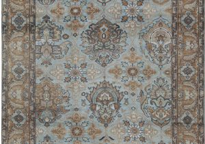 Light Blue Persian Rug Sultanabad oriental Hand Knotted Wool Light Blue Rust area Rug