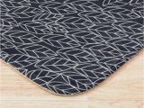 Light Grey Bath Rugs Doodle Leaves Navy and Light Grey Almost White Small