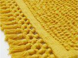Light Yellow Bath Rug Textured Weave Bath Mat Mustard Yellow Home All Hm Us