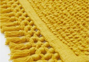 Light Yellow Bath Rug Textured Weave Bath Mat Mustard Yellow Home All Hm Us
