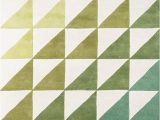 "Lime Green and Grey area Rugs Novogratz Delmar Collection Agatha Side Triangles area Rug 3 6"" X 5 6"" Lime Green"