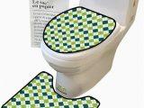 Lime Green Bathroom Rug Sets Bathroom Rug toilet Sets Line Pattern Dotted Lin Lime Green