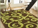Lime Green Round area Rug Brown and Green area Rugs Sbybonnielee