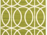Lime Green Round area Rug Jambi Geometric Lime Green area Rug