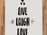 Live Laugh Love area Rugs Amazon Ambesonne Live Laugh Love area Rug Doodle