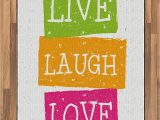 Live Laugh Love area Rugs Amazon Ambesonne Live Laugh Love area Rug Lifestyle