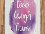 Live Laugh Love area Rugs Amazon Ambesonne Live Laugh Love area Rug Wise and