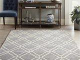 Living Room area Rugs Lowes Allen Roth Shae 8 X 10 Grey Indoor Geometric Mid Century Modern area Rug