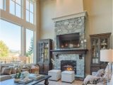 Living Rooms with Large area Rugs Living Room with Two Story Windows Gorgeous Lighting