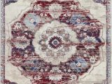 Living Spaces area Rugs 5×7 Luxe Weavers Victoria Collection Ivory oriental 5×7 area Rug 7528
