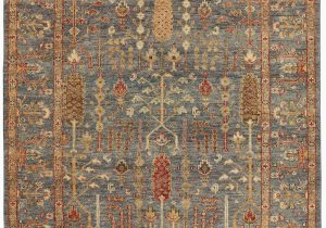 Living Spaces Blue Rug 102×138 Rug Gramoy Hand Knotted Blue Rust