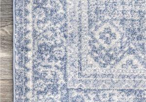 Living Spaces Blue Rug Factoria Serrated Emblem Blue Rug In 2020 Rugs Blue Rug