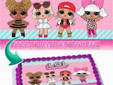 """Lol Surprise Doll area Rug Lol Surprise Dolls Edible Cake Image topper Personalized Picture 1 4 Sheet 8""""x10 5"""" Walmart"""