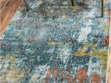 Lonerock Cream Blue area Rug Lonerock Abstract Blue area Rug In 2020