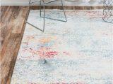 Lonerock Cream Blue area Rug Lonerock Abstract Cream Blue area Rug