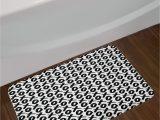 Long Black Bathroom Rug Expressing Xo Bath Rug