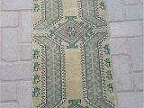 Low Pile Bath Rugs Small Oushak Rug oriental Mat Rug Door Mat Rug Vintage