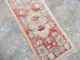 Low Pile Bath Rugs Traditional Amber Color Small Floor Rug Distressed Low Pile