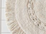 Low Profile Bathroom Rug Raine Crochet Round Bath Mat In 2020