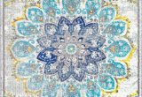 Lowes Blue area Rugs Bosphorus withered Bloom In Bouquet Blue Rug Eclectic area
