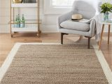 Lowes Living Room area Rugs Allen Roth Cooperstown 5 X 8 Natural Ivory Indoor Border Farmhouse Cottage Handcrafted area Rug