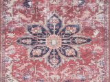 Lucca Red Blue Rug Lf 04 Mh Rust Ivory