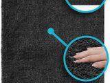 Luxe Microfiber Chenille Bath Rug Luxe Plush Bathroom Rugs Bath Shower Mat W Non Slip Microfiber Super Absorbent Rug Alfombras Para Baños Charcoal Grey 1