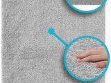 Luxe Microfiber Chenille Bath Rug Luxe Plush Bathroom Rugs Bath Shower Mat W Non Slip Microfiber Super Absorbent Rug Alfombras Para Baños Light Grey 1