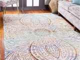 Lyon Light Green area Rug Unique Loom Lyon Modern Abstract area Rug 6 0 X 9 0 Ivory Pink