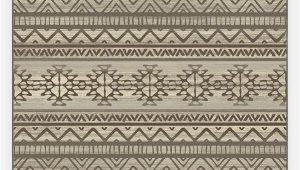Machine Washable area Rugs 8×10 Linear Aztec Neutral Rug
